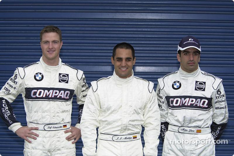 Ralf Schumacher, Juan Pablo Montoya and Marc Gené