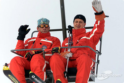 Michael Schumacher during the ski day