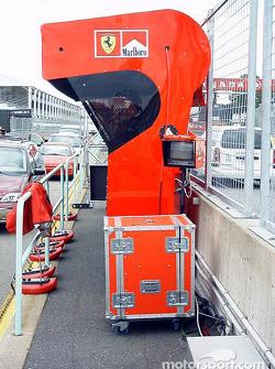 Ferrari pit wall control station
