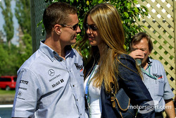 David Coulthard and his lovely girlfriend