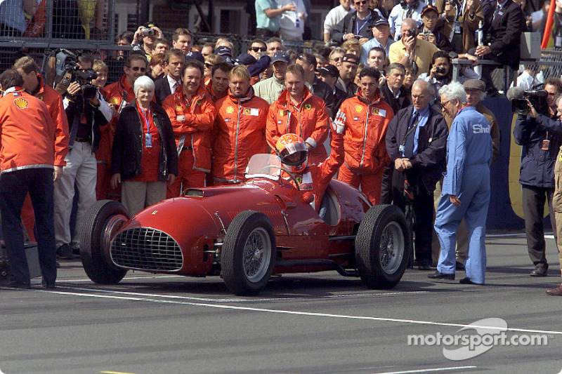 Michael Schumacher in the Ferrari 375 F1