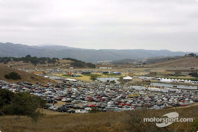 Beautiful Laguna Seca scenery during the race