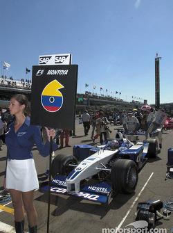 On the grid: Juan Pablo Montoya