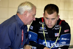 Don Miller of Penske Racing and Alltel driver Ryan Newman