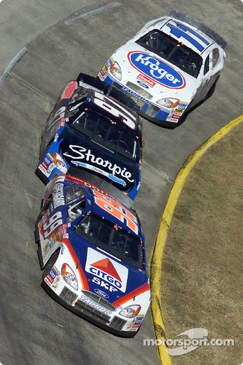 Jeff Burton, Kurt Busch and Brett Bodine