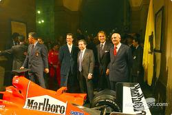 Milan, Teatro alla Scala: Michael Schumacher, Jean Todt and Luca di Montezemelo