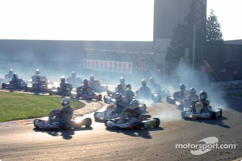 Formula A 100cc: start of the race