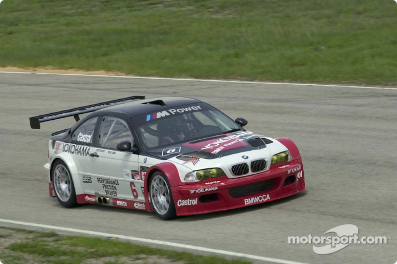 GTR on track: Hans Stuck drives the new Team PTG BMW M3 GTR on its very first laps during a three-day test at Sebring International Raceway