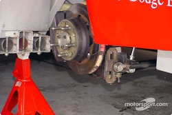 Close-up on the brakes