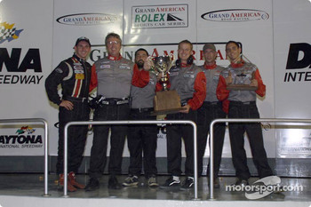 SRPII team owner champions Archangel Motorsport Services on the podium at Daytona