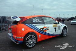 Ford WRC car on display in infield