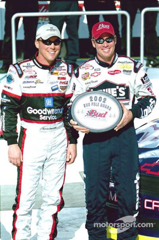 Kevin Harvick and 2002 Daytona 500 Bud Pole Award winner Jimmie Johnson