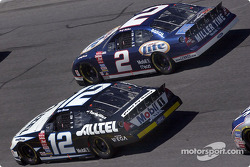 Penske teammates Rusty Wallace and Ryan Newman race side by side