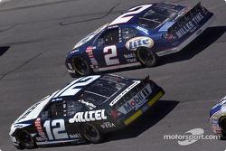 Penske teammates Rusty Wallace and Ryan Newman race side by side