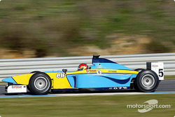 Tiago Monteiro testing the Renault Junior Team Super Nova Lola B2/50