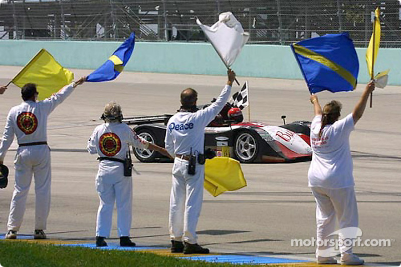 Archangel Motorsport drivers Jeff Tillman and Curtis Francois took two tribute parade laps in memory of their co-driver Jeff Clinton before the start the IRL Grand Prix of Miami