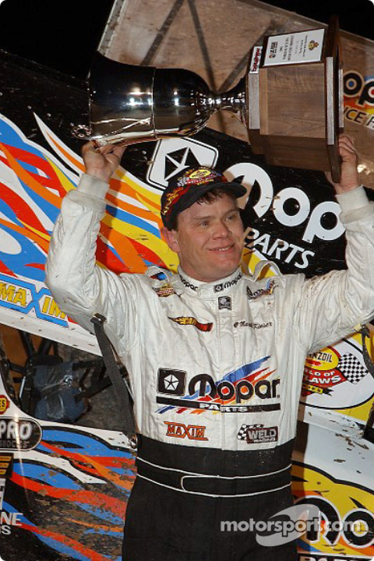 Mark Kinser won Round Two of the Silver State Shootout at the Dirt Track at Las Vegas Motor Speedway on Friday night