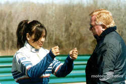 Milka Duno and Don Panoz