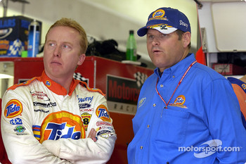 Ricky Craven with Tide Ford team owner Cal Wells