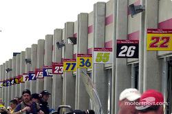 Atlanta Motor Speedway garage area