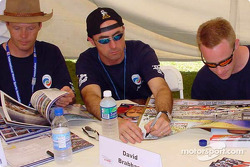 Eric Van De Poele, David Brabham and David Donohue