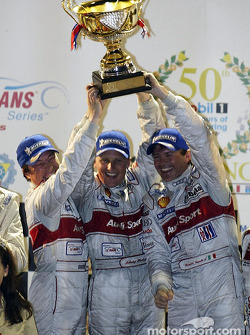 Race winners Christian Pescatori, Johnny Herbert and Rinaldo Capello