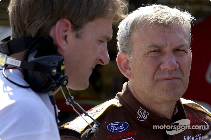 Engine builder Doug Yates and Dale Jarrett