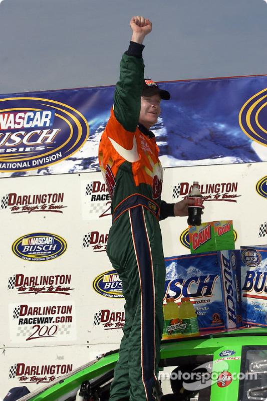 Race winner Jeff Burton