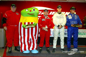 The GTS podium finishers at the Grand American 400