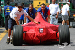 Ferrari being pushed