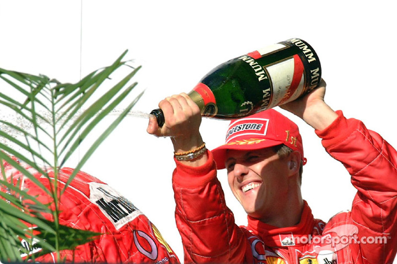 Champagne for Michael Schumacher