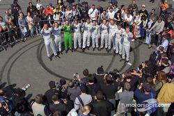 The ten Mercedes-Benz drivers in the 2002 DTM