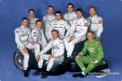 The ten Mercedes-Benz drivers in the 2002 DTM