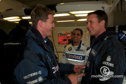 Ralf Schumacher and Juan Pablo Montoya having fun