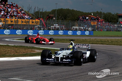 Ralf Schumacher in front of Rubens Barrichello