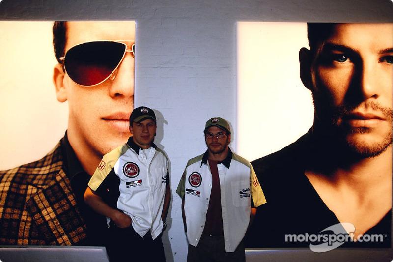 British artist Julian Opie brings together Art and Formula 1 racing: Olivier Panis and Jacques Villeneuve