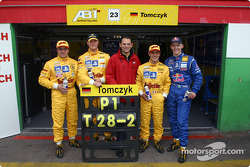 Christian Abt, Martin Tomczyk, Hans-Jürgen Abt, Laurent Aiello and Mattias Ekström