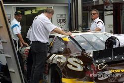 UPS car after Dale Jarrett crashed in practice