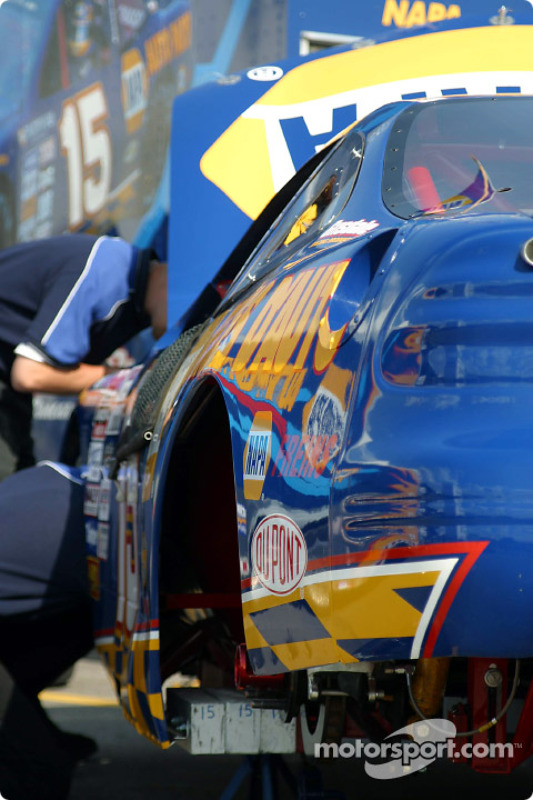 Working on the NAPA car