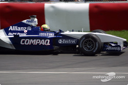 Ralf Schumacher going to the pre-grid