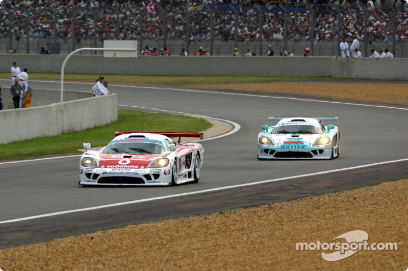 First lap: the Saleen-Ford S7R cars