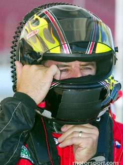 Jerry Nadeau gets ready for his first practice session in Rand Racing's #7 Nissan-powered Lola
