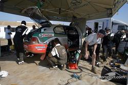 Hyundai World Rally Team service area