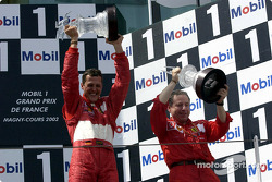 The podium: Michael Schumacher and Jean Todt