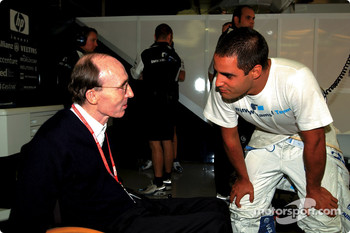 Juan Pablo Montoya and Frank Williams