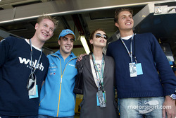 Fernando Alonso with singer Lisa Stansfield, swimmer Pieter van den Hoogenband and Dutch Speed Skater Jochem Uytdehaage