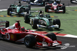 The start: Michael Schumacher and Eddie Irvine