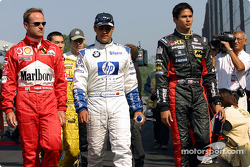 Rubens Barrichello, Juan Pablo Montoya and Alex Yoong