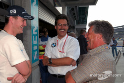 Ralf Schumacher, Mario Theissen and Mario Andretti