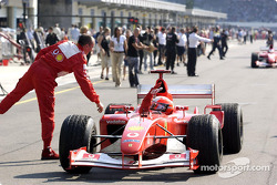 Michael Schumacher after the race
